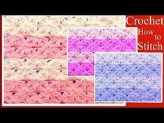 Aprende a tejer fácil a Crochet punto de lazos con alto relieve How to Learn Crochet - YouTube