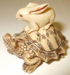 Netsuke - The Tortoise and the Hare