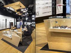 Trendy by Vision Express optician saloon by EMKWADRAT Architekci, Lodz Poland store design Jewellery Showroom, Store Windows, Design Furniture, Store Design, Poland, Visual Merchandising, Cabinet, Home Decor, Shop