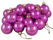 Shiny Pink Lolipop Glass Ball Christmas Ornaments