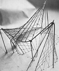 Polytopes - model from Xenakis and Le Corbusier's Plytopes experimentational project combining music architecture and engineering