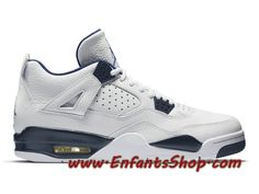 huge selection of 765af de3d9 Air Jordan 4 Retro Chaussures Basket Jordan Pas Cher Pour Homme Legend Blue  314254-107