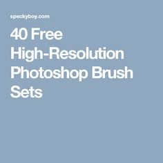 40 Free High-Resolution Photoshop Brush Sets