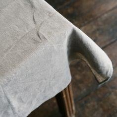 Simple gorgeous linen tablecloth