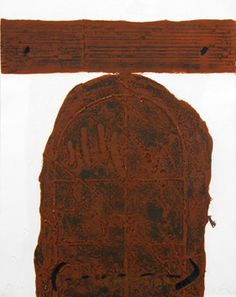 Signed etching carborundum by Tàpies Antoni