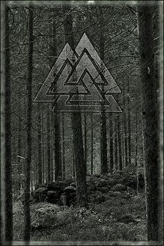 Valknut used on warrior's Viking shields to call the Valkyrie if they were killed