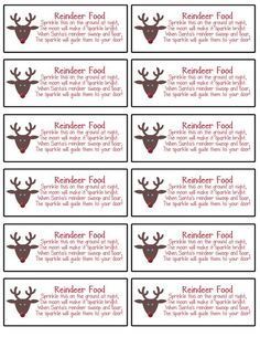 It's just an image of Bright Reindeer Food Recipe Printable Tag Poem