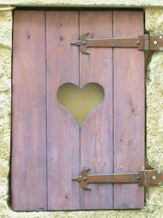 Want adorable shutters like this on your windows ladies? We can help! I Love Heart, With All My Heart, Happy Heart, Window Shutters, House Shutters, Love Symbols, Doorway, Windows And Doors, Mauve
