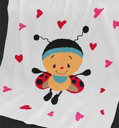 Crochet Pattern Baby Blanket/Afghan Cutie by PatternWorldUK