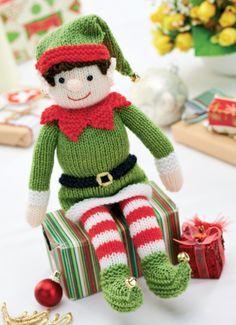 Bernard the Elf - free knitting pattern from Let's Knit