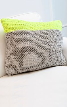 Knitted Fabric Yarn Cushion   Mahogany Throwpillow from We Are Knitters   DIY Project Ideas