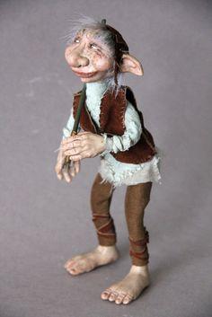 Art Doll One of a Kind Oscar the Troll Fantasy by elenaoriginals, $175.00