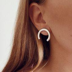 Semi Silver Hoop Earrings (4)sm Silver Hoops, Silver Hoop Earrings, Stud Earrings, Jewelry, Jewlery, Jewerly, Stud Earring, Schmuck, Jewels