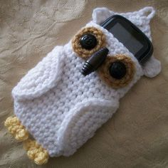 Owl Cell Phone Cozy - Free Pattern
