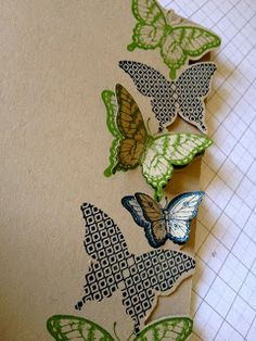 Julie's Japes - A Top Independent Stampin' Up! Demonstrator in the UK: Fancy Butterfly card tutorial! stinking clever! Love the fussy cutting!