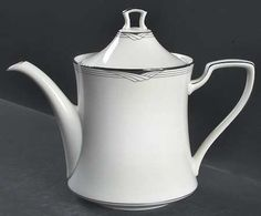 Teapot & Lid in the Sterling Cove pattern by Noritake
