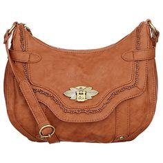 Nica Koper Large Across Body Handbag Tan Online At Johnlewis John