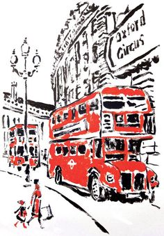 Image via We Heart It #britain #cool #drawing #london #uk #double-decker #bigredbus #england