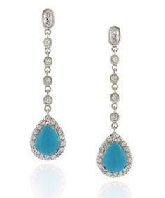 @Overstock - These turquoise teardrop earrings are the perfect show-stopping accessory for a special night out. With attention-grabbing cubic zirconia gemstones, these beautiful dangle earrings will attract positive attention and garner multiple compliments.http://www.overstock.com/Jewelry-Watches/Icz-Stonez-Sterling-Silver-Turquoise-Teardrop-CZ-Earrings/2532754/product.html?CID=214117 $24.29