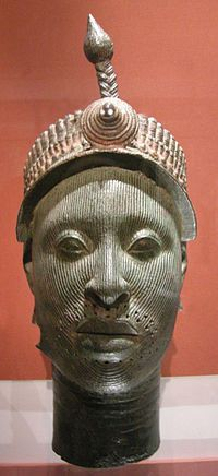 Ife bronze casting of a king dated around the 12th Century, currently in the British Museum