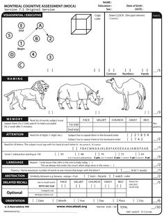 The Montreal Cognitive Assessment (MOCA) - Free Online Screener for mild cognitive impairment