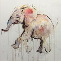 The baby elephant edition is now available @artrepublic_ exclusive. by davewhitestudio