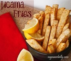 Spicy Jicama Fries #AntiInflammatoryDiet #RedRiverApproved #RedRiver #Recipes #Healthy #Vegan