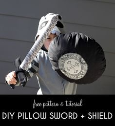 Pillow Sword and Shield Tutorial - free sewing pattern, great for safe and fun imaginary play!