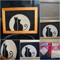 how to DIY Framed Black and White Bean Cat Wall Art | www.FabArtDIY.com       Follow us on Facebook ==> https://www.facebook.com/FabArtDIY