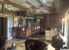 images of diy barnwood furniture & DIY Bar Made From Old Barn Scraps Is The Ultimate Man Cave (PHOTO) WHOA: This Is The Ultimate Man Cave Source by angieturnbo The post WHOA: This Is The Ultimate Man Cave appeared first on Susannah Kenny Interiors. Rustic Man Cave, Man Cave Diy, Man Cave Home Bar, Western Man Cave Ideas, Man Cave Barn, Man Cave Designs, Bar Designs, Industrial Basement, Rustic Basement