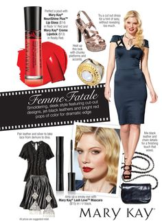 Go bold with the sleek, dramatic look of femme fatale . contact me to get your personalized fall look! My Beauty, Beauty Hacks, Mary Kay Creme Lipstick, Mary Kay Inc, Selling Mary Kay, Mary Kay Cosmetics, Beauty Consultant, Mary Kay Makeup, Dramatic Look