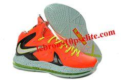 Nike LeBron 10 P.S. Elite Total Crimson Fiberglass-Black-Volt