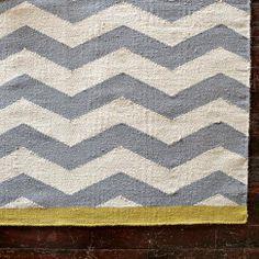 Zigzag Rug - Platinum/Ivory/Citron | west elm  50 for 2x3 130 for 3x5