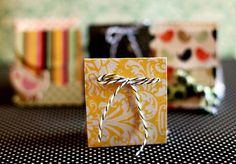 I love this project! Make your own gift bags for party favors! So easy and yet so wonderful!
