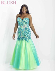 Blush W 9722W Plus Size Prom