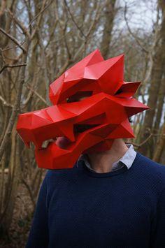 Dragón máscara V1 - perfecto para fiestas chinas