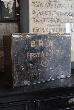 Vintage British Railways First Aid box