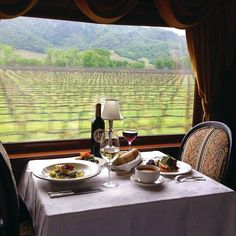 The only thing that beatslunch with the perfect wine pairing...lunch with the perfect wine pairing on the wine train with vineyard views!: @winetrain