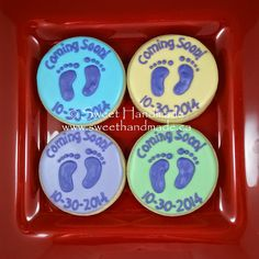 Sweet Handmade Cookies - cookies to announce a new baby.