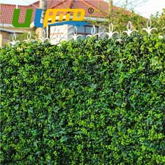 25cm*25cm Plants Fake Leaves Synthetic Grass Mat Artificial Fence artificial bushes foliage for DIY garden-G0602A009B
