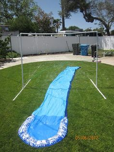DIY PVC sprinkler and slip 'n' slide
