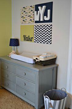Nursery Wall Art w/ fabric