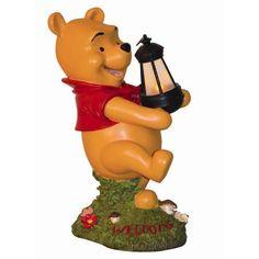 Disney Disney Winnie Pooh's Lantern statue figurine figure Woods International Winnie The Pooh Holding Lighted Lantern Statue Christmas birthday present gift