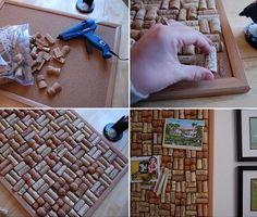 Cuadro de corchos on 1001 Consejos  http://www.1001consejos.com/social-gallery/cuadro-de-corchos