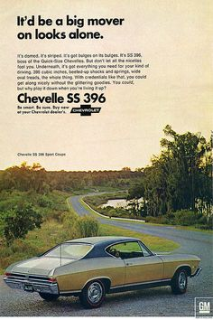 1968 Chevrolet Chevelle SS 396 - It'd be a big mover on looks alone.