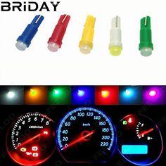 10PCS T5 COB Dashboard Warning Indicator Instrument Gauge Lamps ceramic Led Wedge Car Auto lights Bulb 12V white red yellow