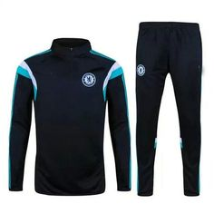15-16 Chelsea Football Shirt Cheap Black Sweater Suit With Pants