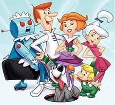 The Jetsons The Jetsons was a prime-time cartoon produced by Hanna-Barbera from George Jetson works 3 hours a day and 3 days a week Vintage Cartoons, Classic Cartoons, Cool Cartoons, 1980 Cartoons, Classic Cartoon Characters, Hanna Barbera, Funny Cartoon Pictures, Cartoon Photo, Bd Comics