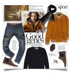 """""""Easy On The Eyes"""" by judysingley-polyvore ❤ liked on Polyvore featuring Dunn, Zara, Vince, Ray-Ban, Kasun, FOSSIL, mens, men, men's wear y mens wear"""