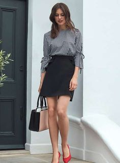 #Business Causal; How to wear #Gingham at work | Shop our summer work wear at Dorothy Perkins